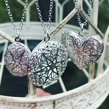 "SET of THREE .925 SILVER PLATED ESSENTIAL OIL DIFFUSER NECKLACES 24"" LOCKETS"