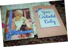 2 vintage Baby Books illustrated Carnation + Pet Milk how + what to expect Moms