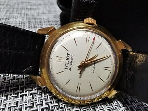 POLJOT AUTOMATIC GENTS WATCH 22 JEWELS RARE VINTAGE MADE IN USSR 1960s