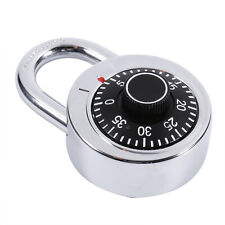 Rotary Padlock Digit Combination Code Lock Round Dial Number Bike Suitcase Safe