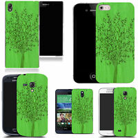art case cover for All popular Mobile Phones -  green grain tree silicone