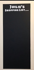 Black Board Shopping / To do List in Vinyl Personlised..Kitchen/ Office