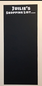 Black Board Shopping / To do List in Vinyl Personalised, Kitchen/ Office
