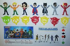SERIE COMPLETA JUSTICE LEAGUE (SE628 - SE685) + 7 BPZ TURCHIA KINDER JOY 2018