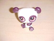 Littlest Pet Shop Panda Bear #414 White and Brown With Pink Eyes