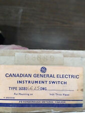 Canadian General Electric SWITCH-INSTRUMENT 16SB1CE25