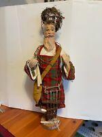 VTG 90'S SILVESTRI Santa CANDLE MAKER DISPLAY FIGURE Rustic Primitive Christmas