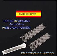 20 AGUJAS DE COSTURA EN 2 TAMAÑOS DIFERENTES CUERO LONA PLÁSTICO MUY RESISTENTES