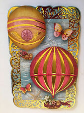 10 Punch Studio HOT AIR BALLONS NOTE CARDS. Die cut.  GORGEOUS!