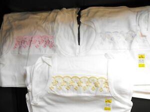 New Girls Vest  White, Yellow, Pink, Multi, 2 - 3 Years  12 - 14 Years One Vest