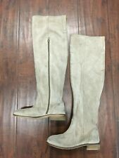 Seychelle Women's Knee High-Tall Leather Boots Color Cream Size: 6