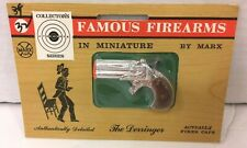 VINTAGE FAMOUS FIREARMS IN MINIATURE BY MARX TOY DERRINGER CAP GUN NEW SEALED!