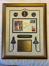 Framed John Glenn Signed Memorabilia 157/500 Space Shuttle Discovery