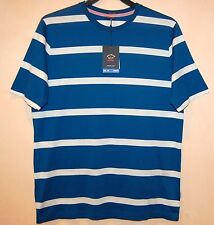 Paul & Shark AUTHENTIC Men's Blue Striped Italy Cotton T-Shirt Shirt Sz L $190