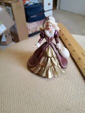 Vintage Holiday Barbie Doll Christmas Ornament Hallmark 1996 Collectible