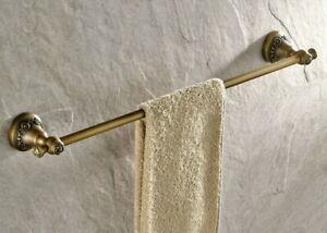 Antique Bronze Brass Wall Mounted Bathroom Single Towel Bar Rail Rack Holder