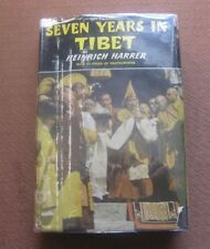 SEVEN YEARS IN TIBET by Heinrich Harrer -1st edtion stated HCDJ  1954 - film