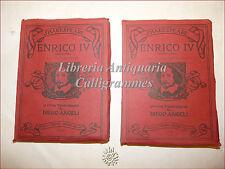 TEATRO: Shakespeare, ENRICO IV parte I e II Treves 1914 traduzione Diego Angeli