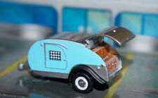 LIMITED EDITION BLUE TEARDROP CAMPER TRAILER DIORAMA 1/64 SCALE Dcp GREENLIGHT