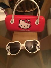 Hello Kitty Sun Glasses With Red Case (White Handles)