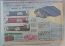 Eveready Batteries Ad: Vacation Ready Flashlights from 1920's