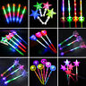 LED FLASHING STAR HEART EMOJI GLOW STICK WAND PARTY CONCERT FAVORS KIDS TOY SMAR
