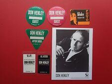 Eagles,Don Henley,promo photo,6 Original Backstage passes,Various Tours