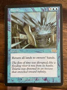 MTG Sunder ~ Urza's Saga N/M - RETURN ALL LANDS!