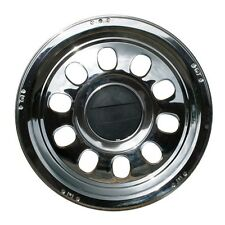"""Pair of 22.5"""" Ruspa Vinci stainless steel rear wheel trims hub caps"""