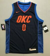 NBA Oklahoma City Thunder Russell Westbrook Nike Jersey Youth Large Retail $70