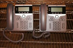 Lot 2x Cisco CP-7821-K9  CP-7821 2-line IP Business Phone w/ Handset and Stand