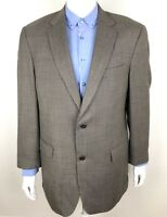 Hart Schaffner Marx Mens Sport Coat Jacket Houndstooth Gray Size 42L Actual 44L