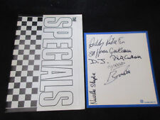 Specials 1980 Japan Tour Book with Signed Card 2 Tone Ska Mod Terry Hall
