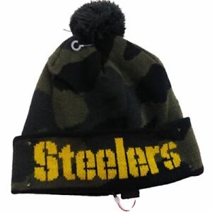 NFL Pittsburgh Steelers Boys One Size Green Beanie Hat Light Up 13498