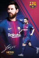 "LIONEL MESSI POSTER ""LICENSED"" BARCELONA FC 2017/2018 ""BRAND NEW (61cmX91.5cm)"