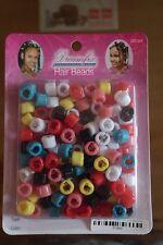 Beads Perlen Haarperlen Clips Rastas Zöpfe Flechten Cornrow  100 Stück Bunt