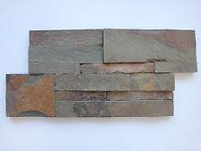 pièces de PATRON LE pierre naturelle Schistes brique murale coloré lanières