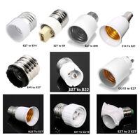 B22 GU10 E27 E14 E40 Converter BC Adaptor Screw Sockets Lamp Socket Bulb Lot