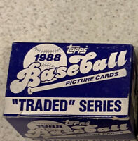 12 1988 TOPPS TRADED SERIES BASEBALL COMPLETE 132-CARD SET W/ Alomar Rookie