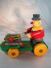 """Walter Western Germany Pull Toy - Clown/Xylophone - Works - 9"""" x 7"""" x 5"""""""