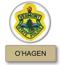 SUPER TROOPERS O'HAGEN POLICE NAME BADGE & BUTTON HALLOWEEN COSTUME MAGNET BACK