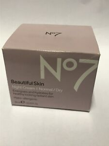 No 7 Beautiful Skin Night Cream, Normal / Oily, Energizes and Hydrates