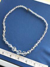 Crystal Necklace (a1) Vintage Art Deco Jewellery
