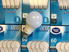 144 Pack LED 60W = 9W Daylight 60 Watt Equivalent A19 5000K light bulb