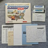 Crosscountry USA Home Edition Apple II Didatech Software vintage computer game