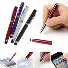NW 4 en 1 LED Laser Pointeur Torche écran Stylet Ball Stylo Pour iPhone 4 5 iPad