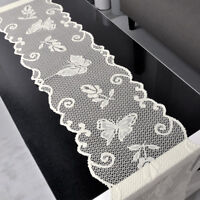 Vintage Lace Table Runner Dresser Scarf Oval Doily Wedding 13x96inch Floral