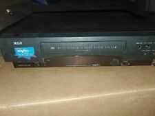New listing Rca Vr619Hf Double Azimuth Video Cassette Recorder Hi-Fi Stereo 4-Head Working