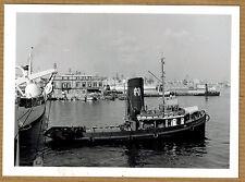 Photo 12 x 9 vintage snapshot Italie bateau à vapeur Citta di Trieste 60's jp096