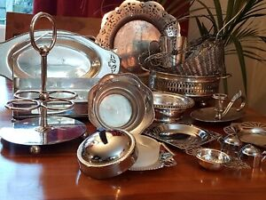A VINTAGE SILVER PLATED JOB LOT - OVER 5 Kg
